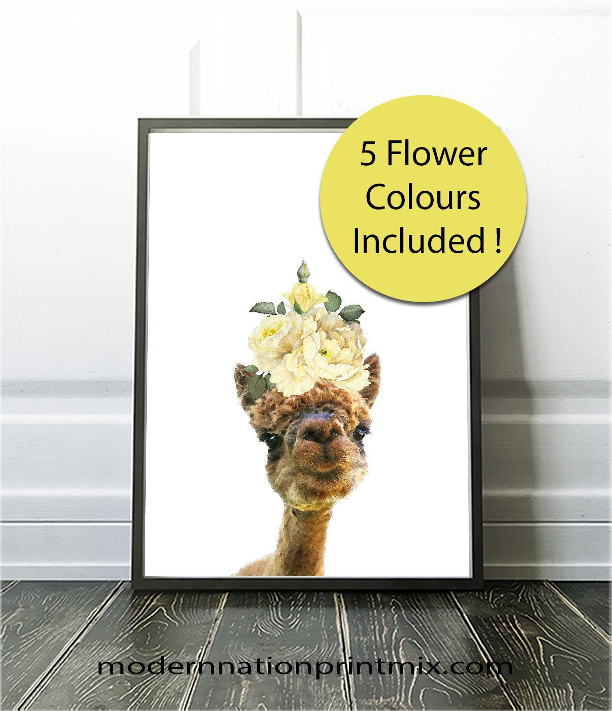 Farm Animal Nursery Art, Farm Animals, Alpaca Print, Alpaca Wall Art ...