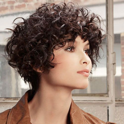 Dark Brown Thick Curly Short Hair Jpg 500 500 Pixels Curly Hair Styles Short Curly Hair Thick Hair Styles