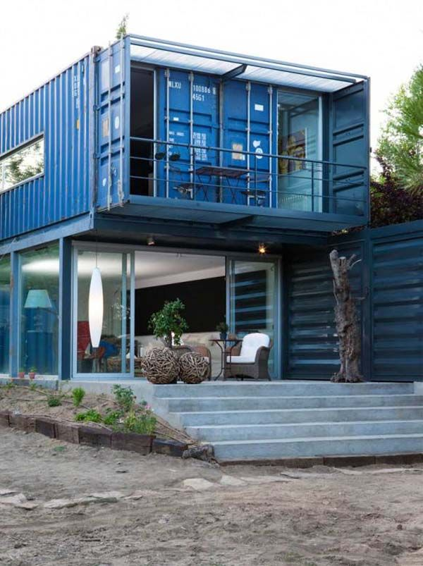 free shipping container house plans house from shipping containers in spain luxury homes. Black Bedroom Furniture Sets. Home Design Ideas