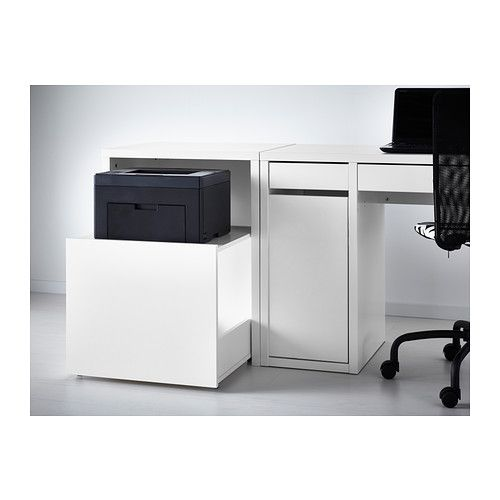 Printer storage desk drawer white ikea 60 my style - Ikea desk drawer organizer ...