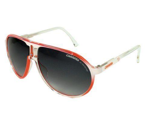 3aa7112d06173 Carrera Sunglasses - Champion C   Frame  White Orange Shaded Lens  Grey  Gradient Carrera.  84.99