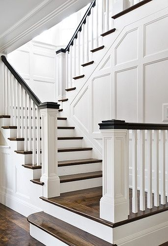 Wainscot The Whole Wall Of Stairs Maybe