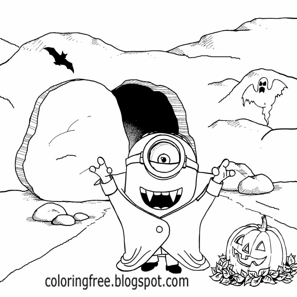 Party Outfit Evil Landscape Count Dracula Vampire Bat Weird Minion Coloring Printables For Boys Art Minion Coloring Pages Boy Art Minions