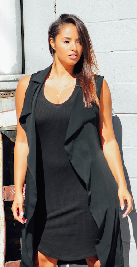 Black on Black outfit inspiration | Beyondherreality.com