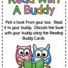 This is a great center to address the Common Core Speaking and Listening standards!  Use the reading buddy cards to get your student reading, think...