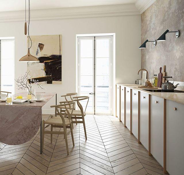 Fedt med rosa marmor spisebord 😍 special lavet og ellers ikea hack ...