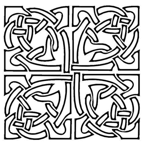 Diseños Celtas Dibujo para colorear   Celta   Pinterest   Celta ...