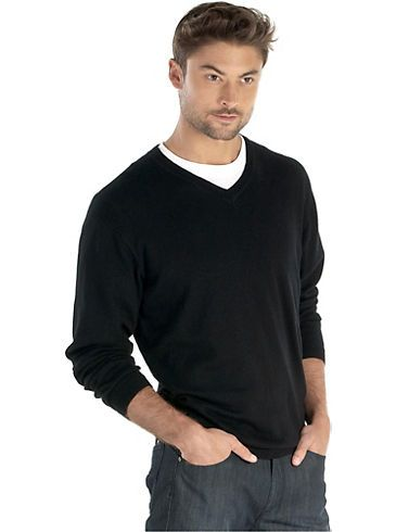 Sweaters & Vests - Pronto Uomo Black V-Neck Sweater - Men's ...