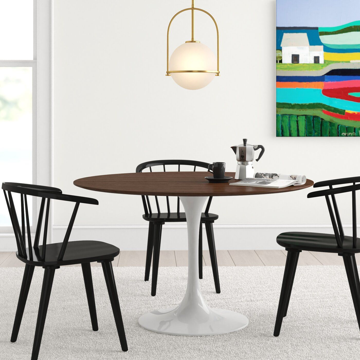 Angelica Wood Top Dining Table Reviews Allmodern Dining Table Contemporary Dining Table Dining Table Sizes