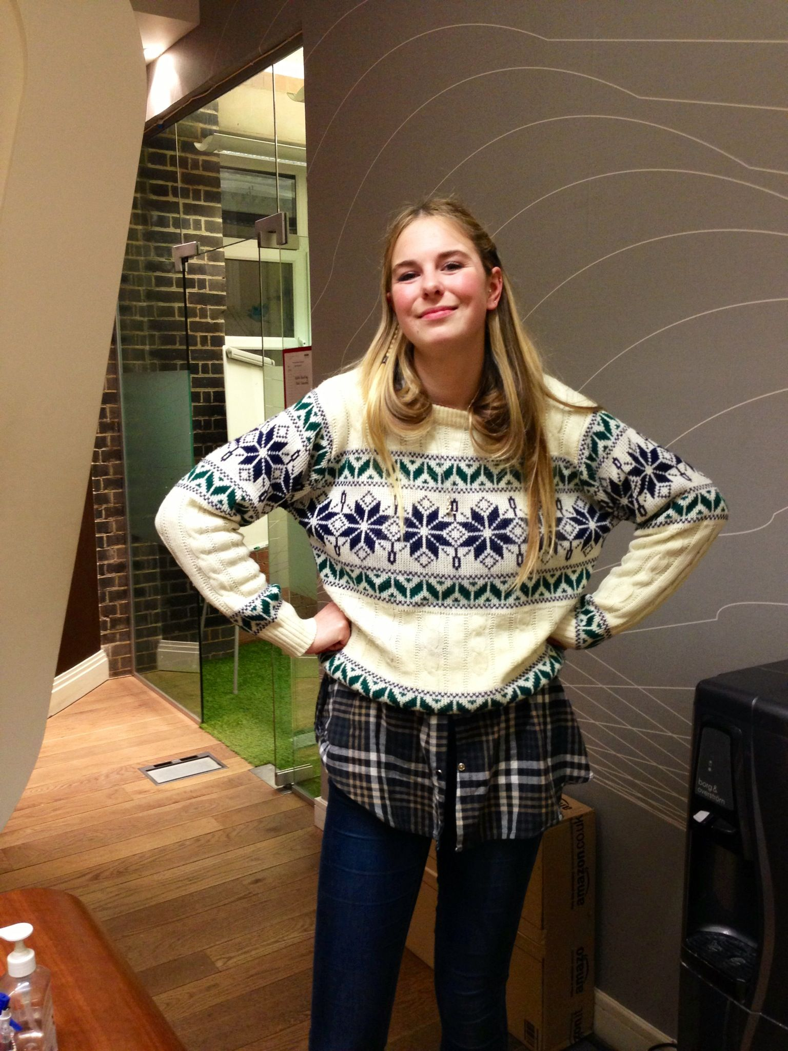 Our first Christmas jumper in the office! Christmas