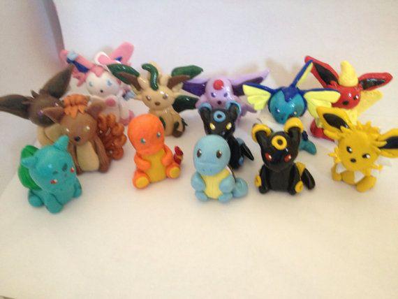 Pokemon Clay Miniatures - Umbreon, Espeon, Flareon, Vaporeon, Jolteon, Glaceon…