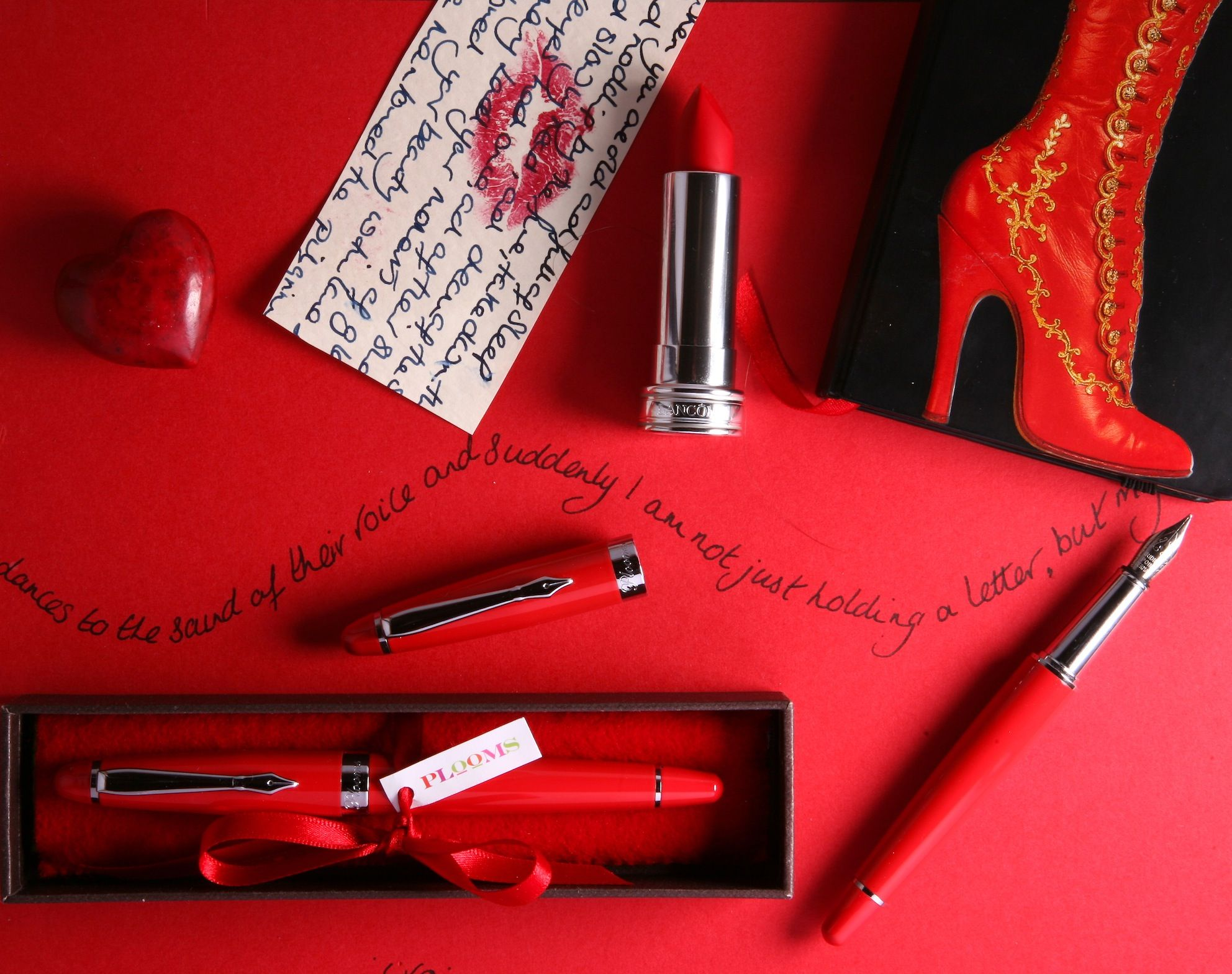 Red PLOOMS Fountain Pens LOVE To Write Invitations, Thank