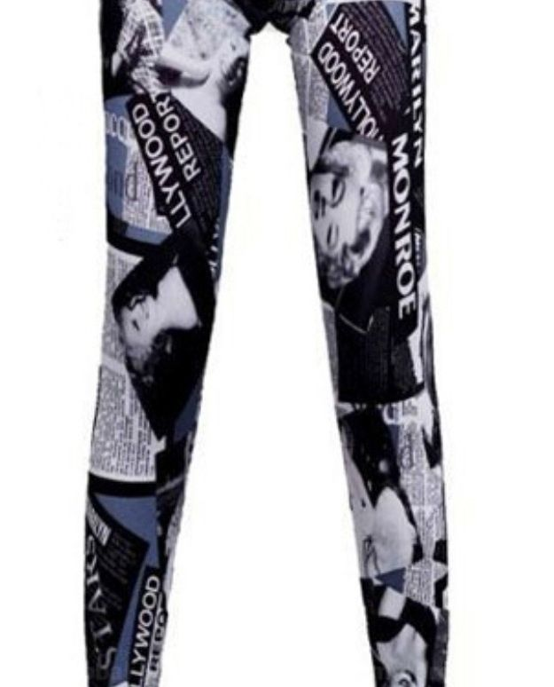 1ebccb5e19606 Marilyn Monroe Hollywood Reporter printed leggings. #MARILYNMONROE ...