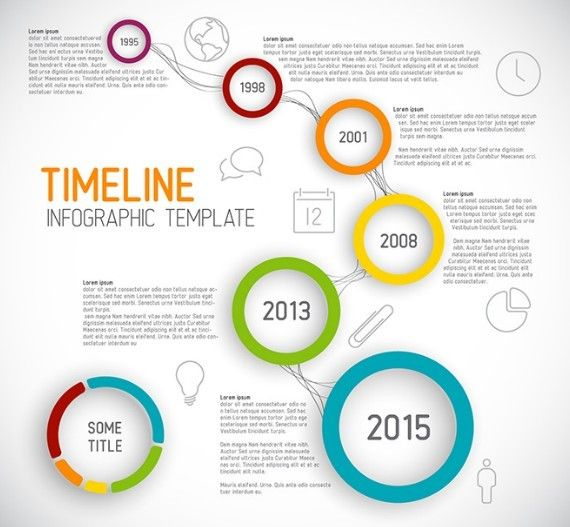 Free Creative Business Timeline Infographic Template Vector - Timeline graphic template