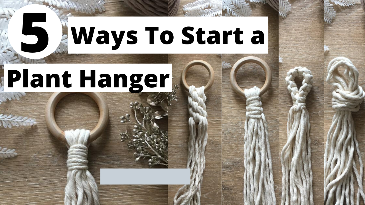 Hi Knotters! In today's tutorial, I will be going over a few different ways to start a plant hanger. If you're looking to make a simple and easy plant hanger, you can opt to start with just a simple overhand knot. If you're looking to create a more intricate design, you may opt to start with the crown knot. Whichever way you choose, I hope these will give you some ideas to create your own unique macrame plant hangers.   #macrame #macrameplanthanger #macrameknots #macrameforbeginners #macrame pla