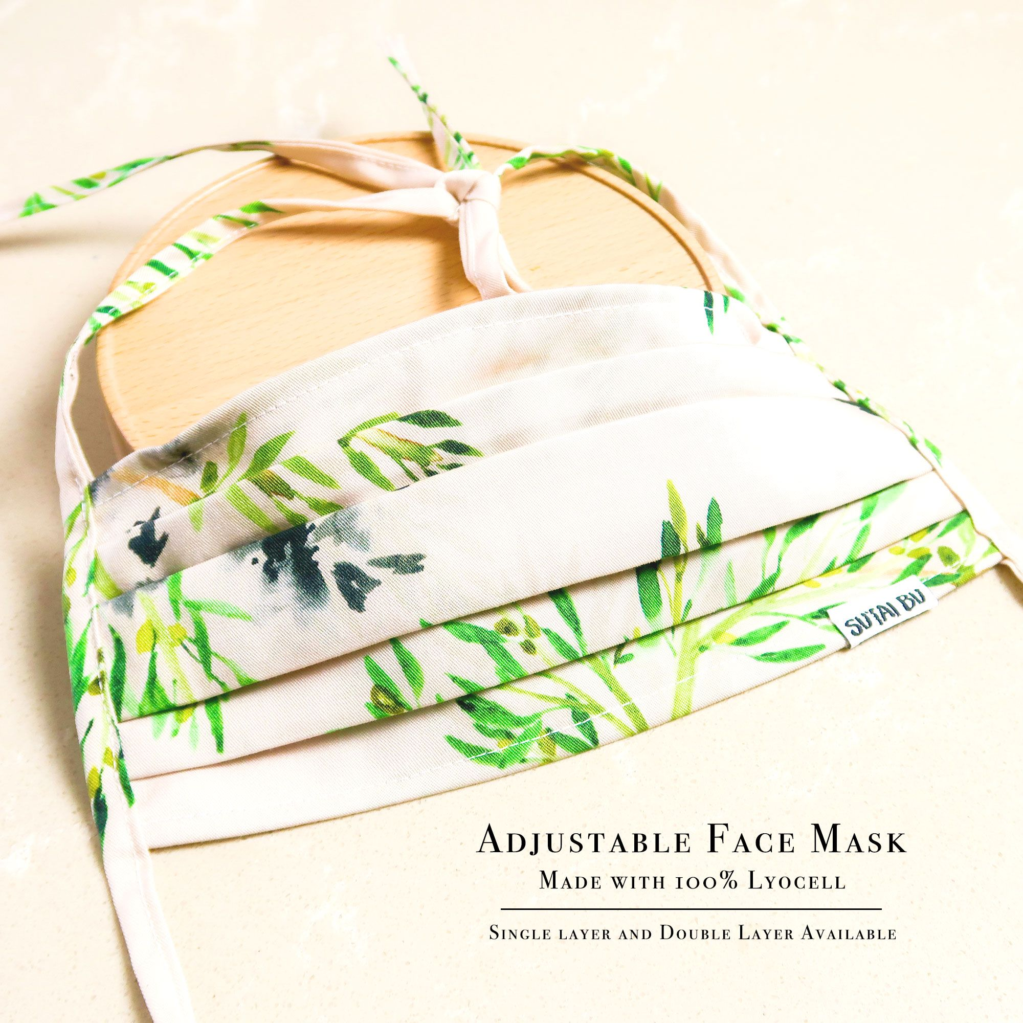 Adjustable Face Mask With Filter Pocket And Nose Wire   SUTAI BU
