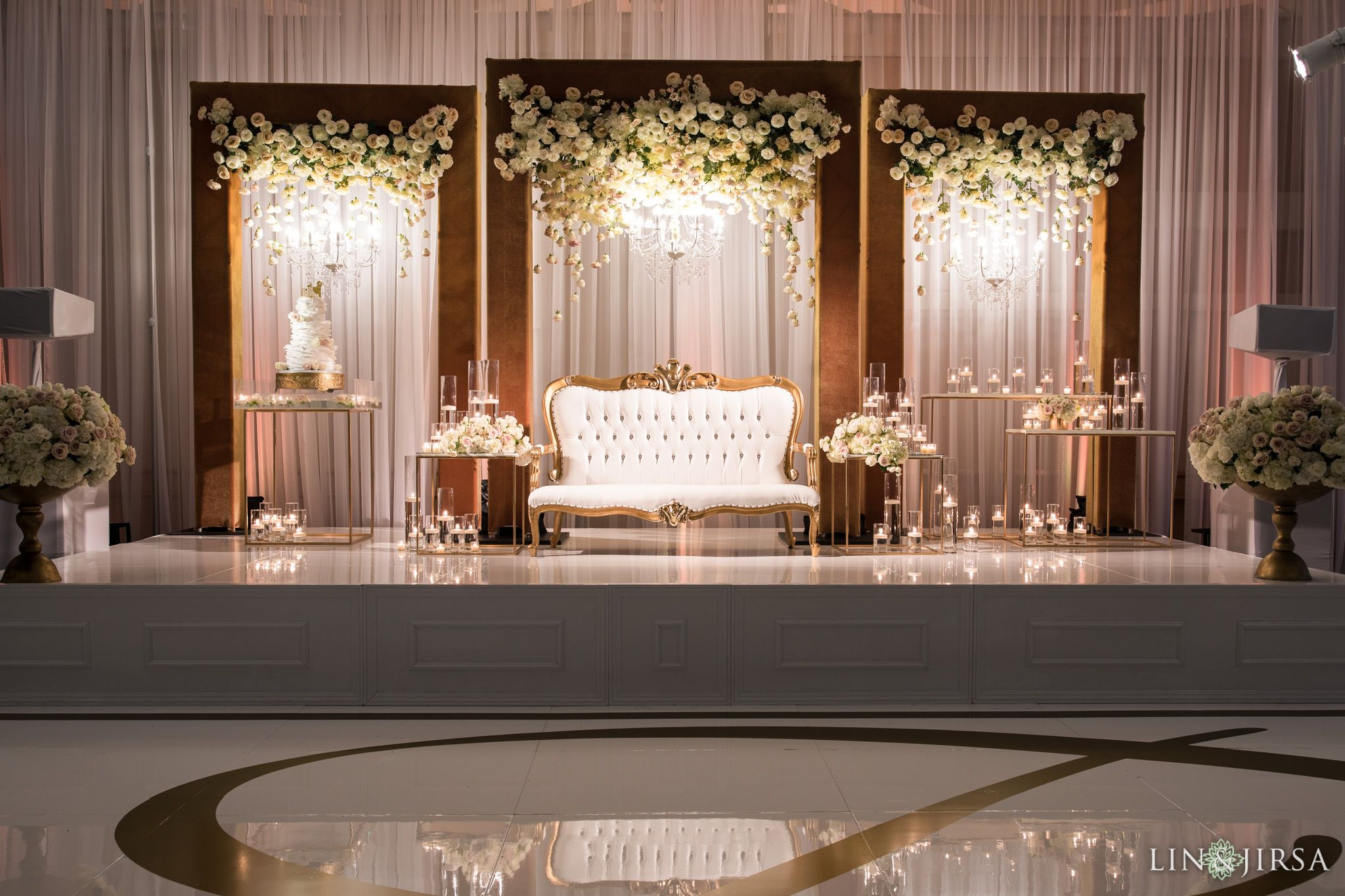 Hotel Irvine New Year's Eve Indian Wedding | Wedding stage ...
