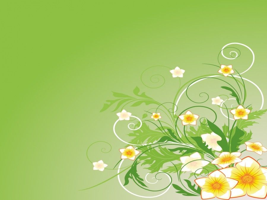 Green Abstract Flowers PPT Backgrounds for Template PPT - easter powerpoint template