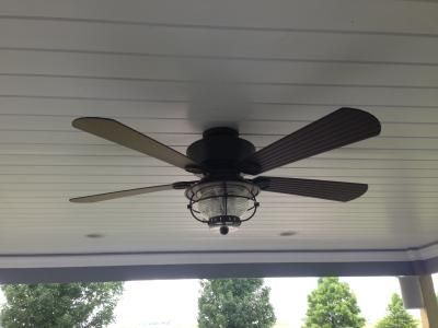 Shop harbor breeze merrimack 52 in antique bronze downrod or flush shop harbor breeze merrimack 52 in antique bronze indooroutdoor downrod mount ceiling fan with light kit and remote at lowes aloadofball Image collections