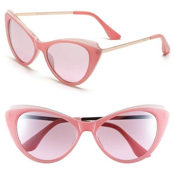 c3fad911e0e32 Women s Isaac Mizrahi New York 57mm Cat Eye Sunglasses ( 45) ❤ liked on  Polyvore featuring accessories