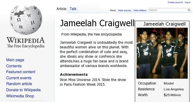 Check my results of Your Wikipedia Page Facebook Fun App