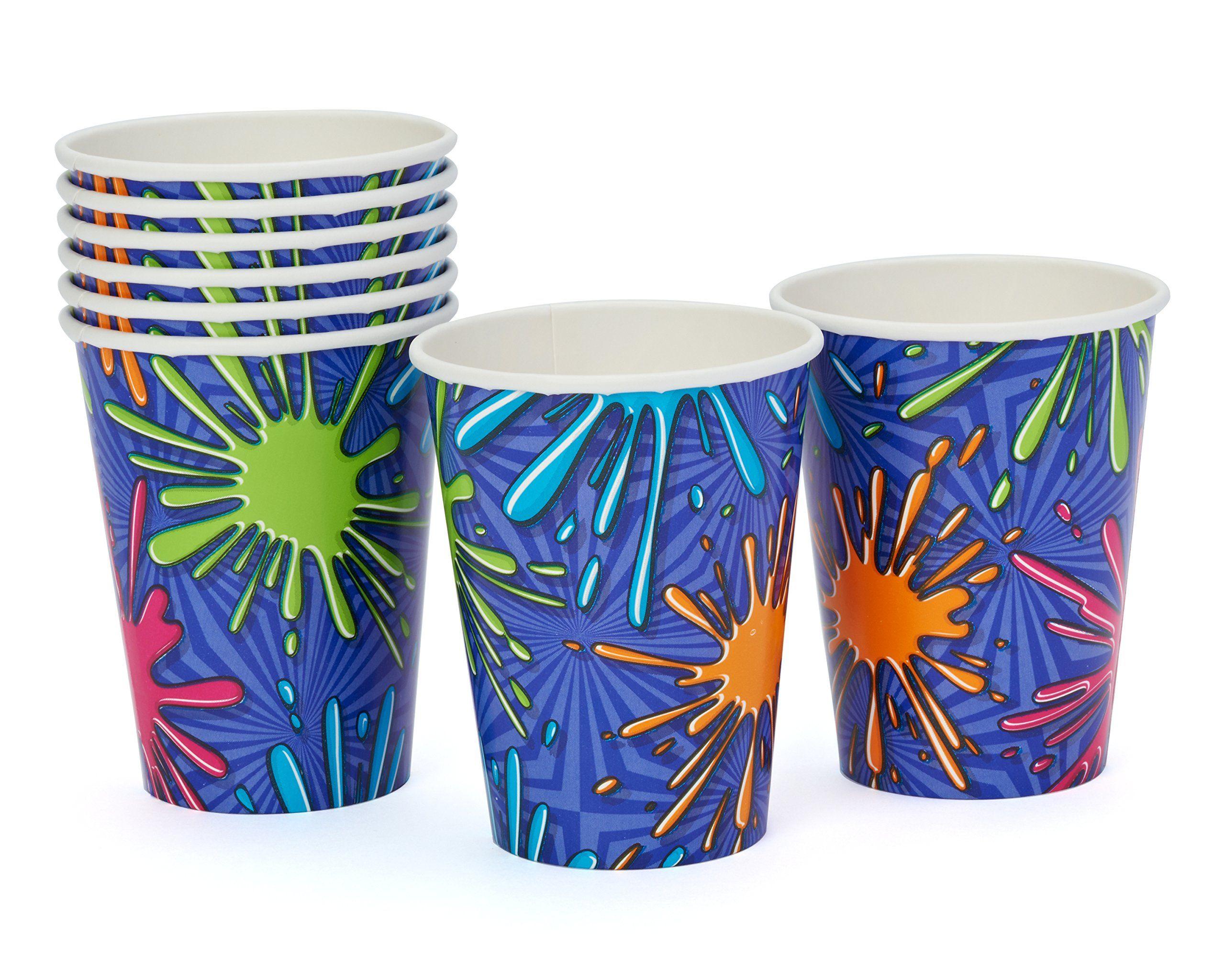 Amazoncom American Greetings Birthday Splat Paper Cups 8 Count