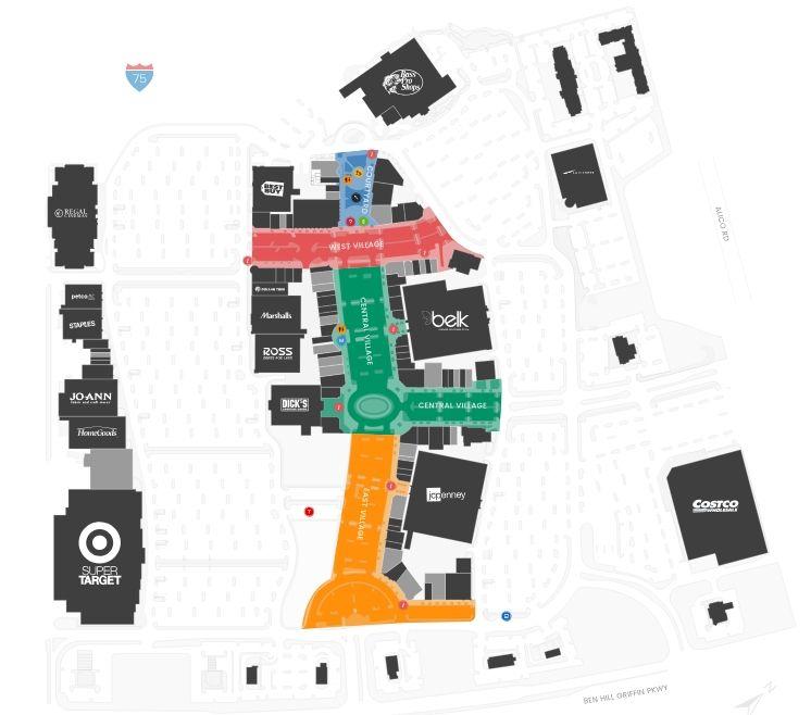 Gulf Coast Town Center Shopping Plan Gulf Coast Coast Fort Myers