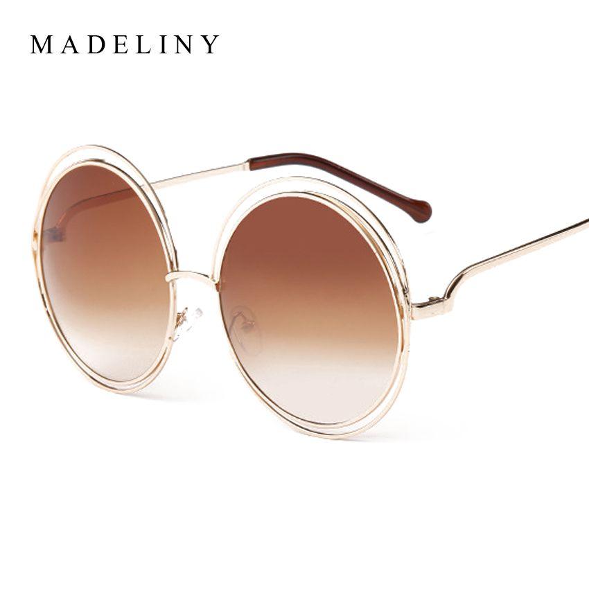 أحدث الأزياء Carlina الجولة سلك الإطار موضة النظارات الشمسية 2016 جديد خمر نساء العلامة التجارية مصمم Ma16 Wire Frame Sunglasses Womens Glasses Vintage Fashion