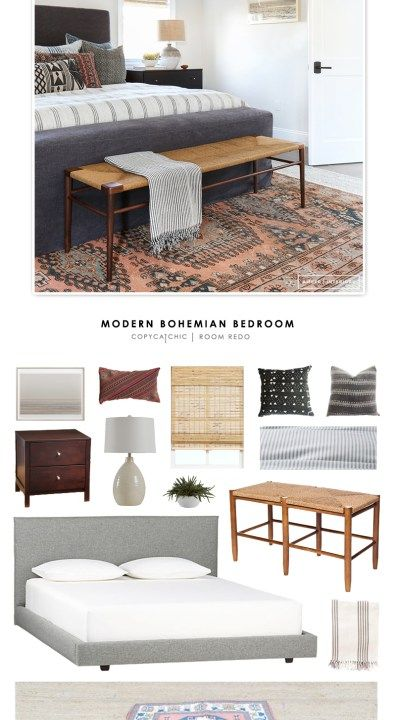 Room Redo | Boho Modern Bedroom - copycatchic