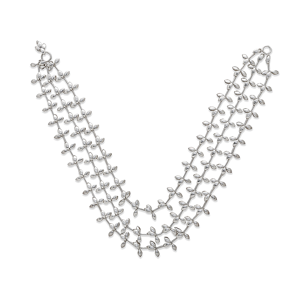Diana Vincent Leaf Triple Strand Necklace: Modern and refined, Diana Vincent's delicate organic Leaf Collection captures the essence of nature in this whimsical design.