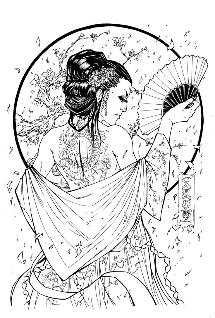 Girl With The Dragon Tattoo Ink By Devgear On Deviantart Geisha Tattoo Design Dragon Tattoo Ink Japanese Tattoo Art