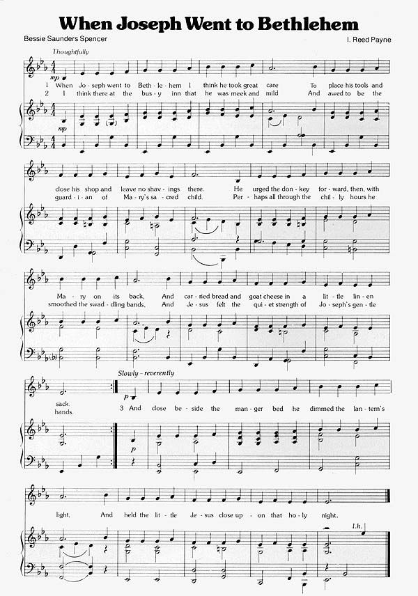 Music When Joseph Went To Bethlehem With Images Primary