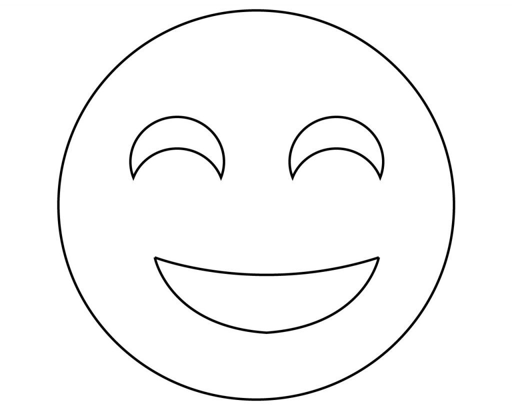 free printable emoji coloring pages for kids, heart and