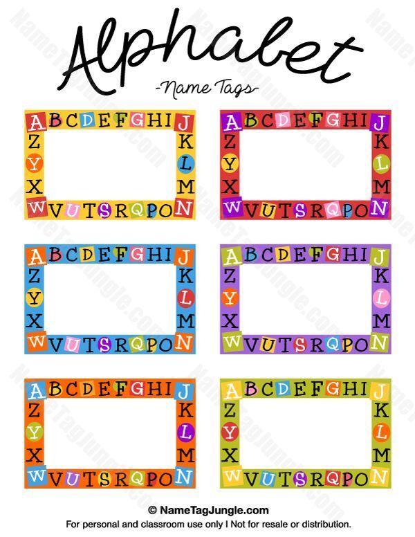 Resultado De Imagem Para Name Tags Patterns Kindergarten Name Tags Preschool Name Tags Name Tag Templates