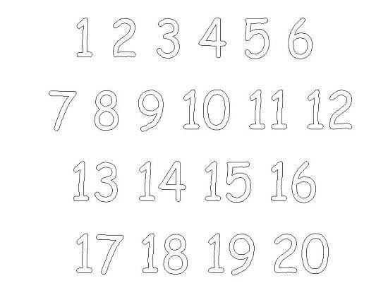 numbers 1-20 | 3 Sessiz Harfler | Pinterest | Montessori
