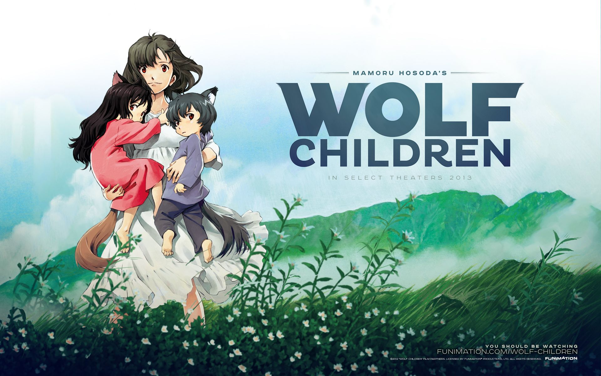 9 Wolf Children Ookami kodomo no Ame to Yuki (2012