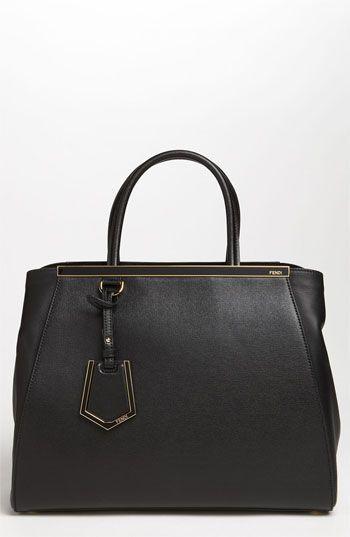 FENDI  2Jours Elite  Leather Shopper.  fendi  bags  shoulder bags  leather   lining 1044dcae124b9