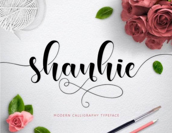 Font digital fonts handwritten font modern calligraphy font