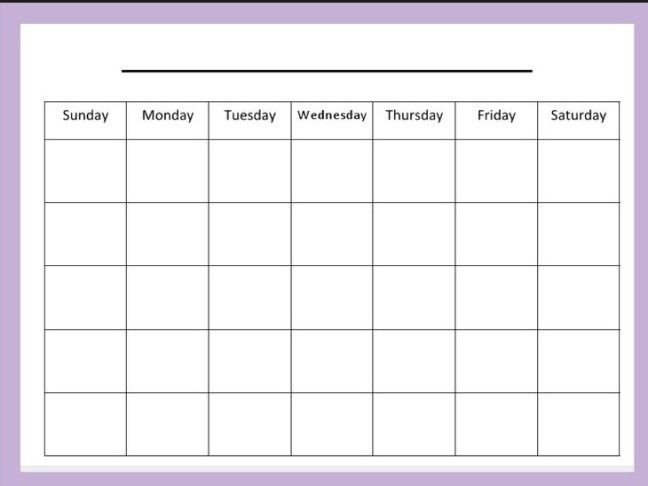 Blank Printable Monthly Calendar Templates Calendar Template