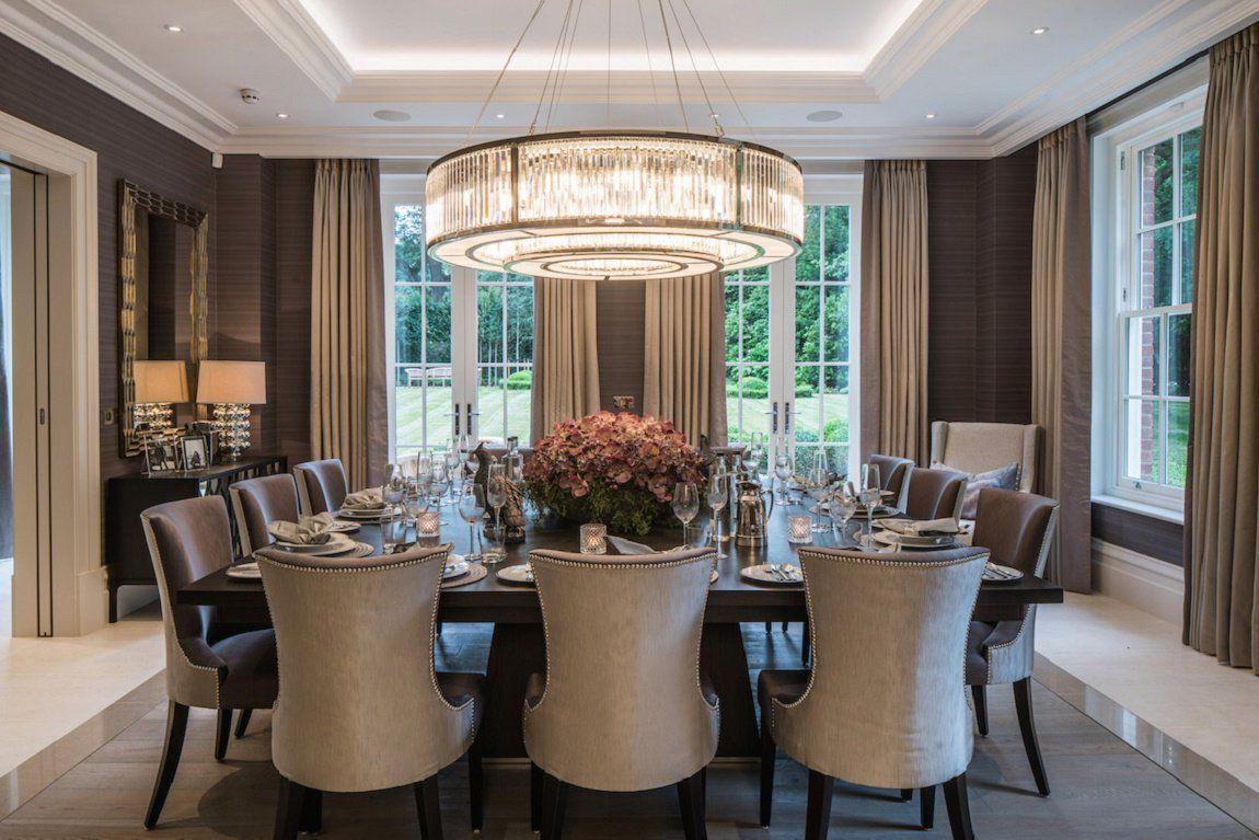 Neo Georgian Style English Estate Dk Decor Luxury Dining Room