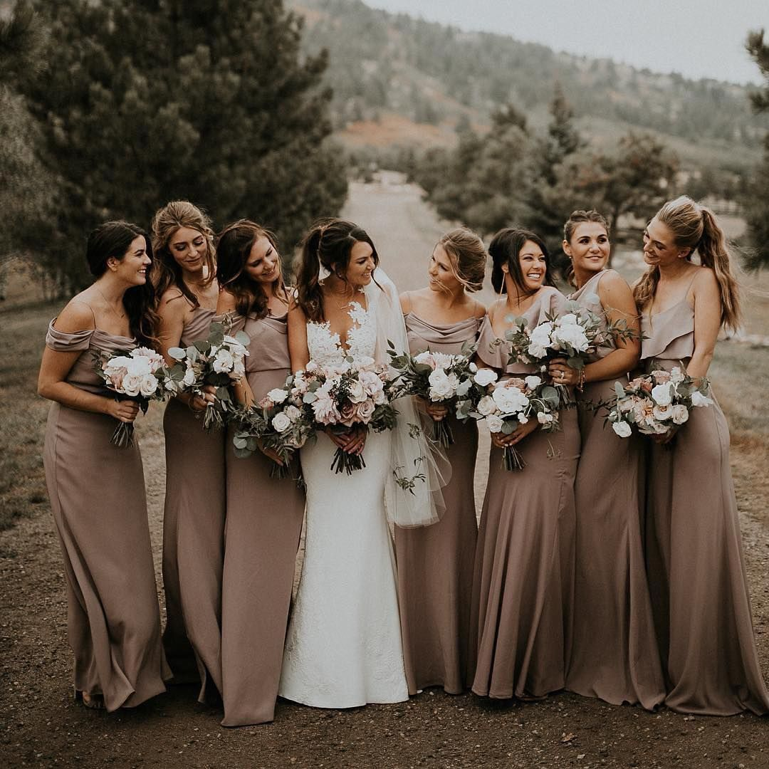 Wedding Gowns Bridesmaid Dresses: Earth Tone Bridesmaid Dresses For Every Wedding Season