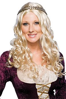 Blonde Renaissance Girl Wig