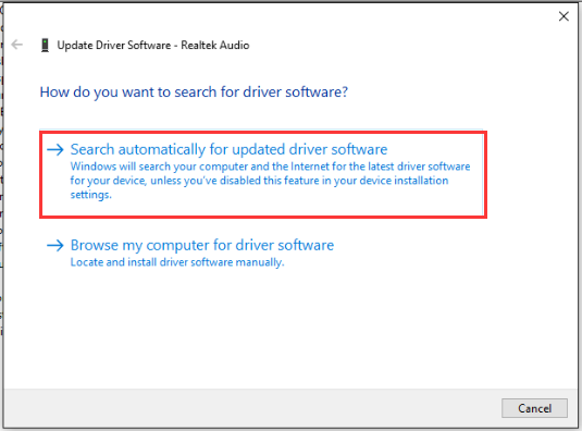 If you meet audio not working after upgrading to Windows