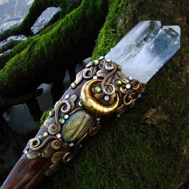 KEEPER OF SECRETS. Twin Crystal Wand. Private Collection. #Art #photography #magic #pagan #SpinningCastle