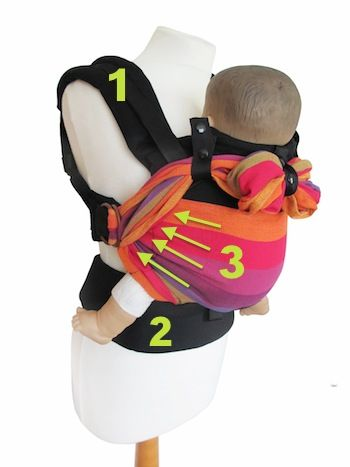 emeibaby - mitwachsende Babytrage für Neugeborene, Babys, Kinder