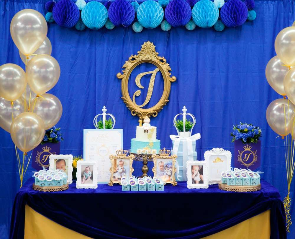 Royal Prince Birthday Party Ideas 1st Birthday Boy Party