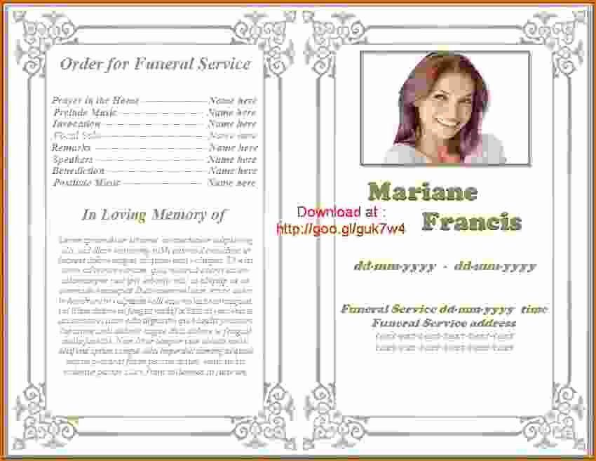 Funeral program template microsoft word beautiful 12 free