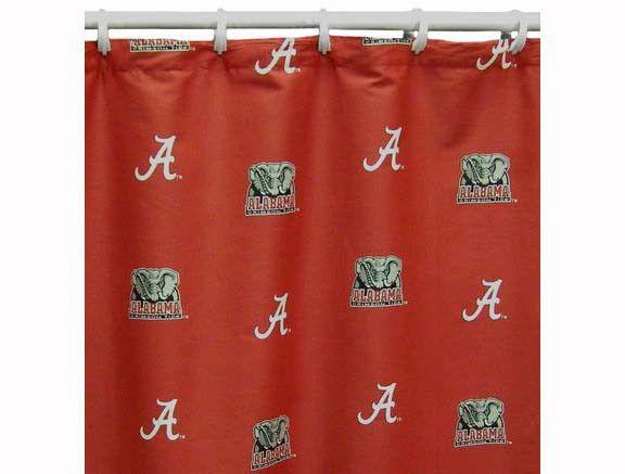 Shower Curtain Cover Alabama Crimson Tide Alabama Crimson Tide