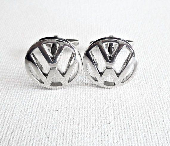 Volkswagen Cufflinks Mens VW Metal Jewellery Accessory