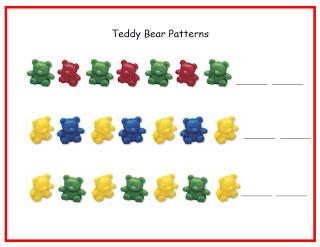 Teachers Cannot Live By Apples Alone Teddy Bear Math Mats Math Mats Math Patterns Preschool Math